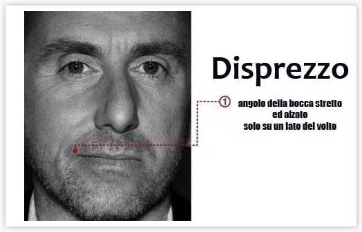 Micro espressioni - Disprezzo